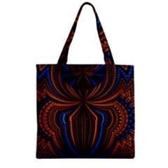 Patterns Light Dark Zipper Grocery Tote Bag by amphoto