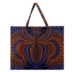 Patterns Light Dark Zipper Large Tote Bag by amphoto