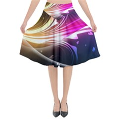 545 Patterns Lines Flying  Flared Midi Skirt by amphoto