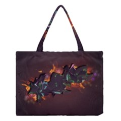 Abstraction Patterns Stripes  Medium Tote Bag by amphoto