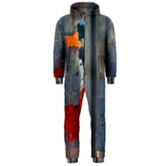 Abstract Paint Stain  Hooded Jumpsuit (men)  by amphoto