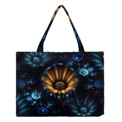 Fractal Flowers Abstract  Medium Tote Bag by amphoto