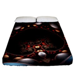 Pattern Fractal Abstract 3840x2400 Fitted Sheet (california King Size)