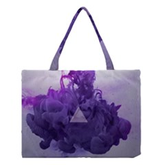 Smoke Triangle Lilac  Medium Tote Bag by amphoto