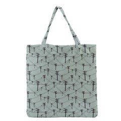 Telephone Lines Repeating Pattern Grocery Tote Bag by Nexatart