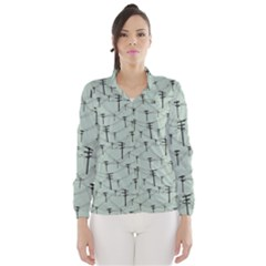 Telephone Lines Repeating Pattern Wind Breaker (women)