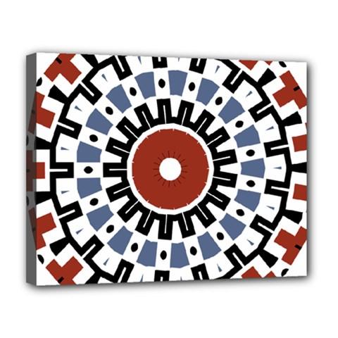 Mandala Art Ornament Pattern Canvas 14  X 11  by Nexatart