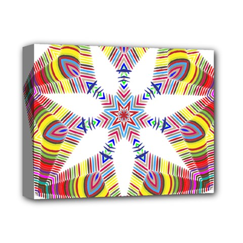 Colorful Chromatic Psychedelic Deluxe Canvas 14  X 11  by Nexatart