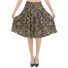 Majestic Pattern D Flared Midi Skirt by MoreColorsinLife