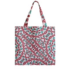 Multicolor Graphic Pattern Zipper Grocery Tote Bag by dflcprints