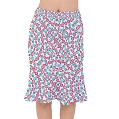 Multicolor Graphic Pattern Mermaid Skirt by dflcprints