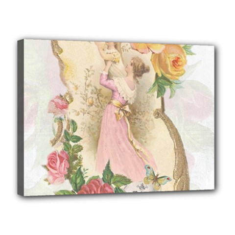 Vintage Floral Illustration Canvas 16  X 12  by paulaoliveiradesign
