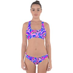 Retro Pattern 1973b Cross Back Hipster Bikini Set