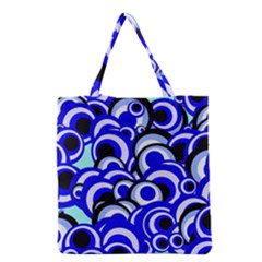 Retro Pattern 1973e Grocery Tote Bag by MoreColorsinLife