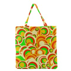 Retro Pattern 1973a Grocery Tote Bag by MoreColorsinLife