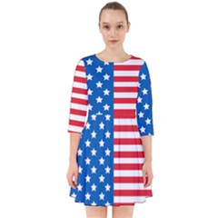 Usa Flag Smock Dress
