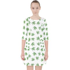 Marijuana Pattern Pocket Dress by stockimagefolio1