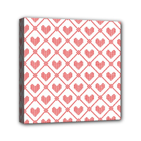 Heart Pattern Mini Canvas 6  X 6  by stockimagefolio1