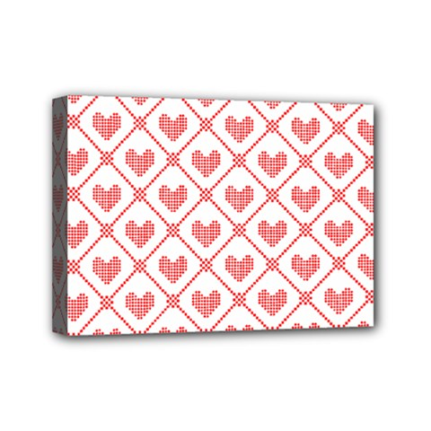 Heart Pattern Mini Canvas 7  X 5  by stockimagefolio1