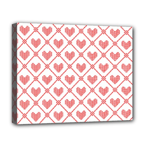 Heart Pattern Deluxe Canvas 20  X 16   by stockimagefolio1