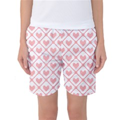 Heart Pattern Women s Basketball Shorts by stockimagefolio1