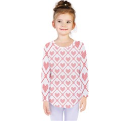 Heart Pattern Kids  Long Sleeve Tee by stockimagefolio1
