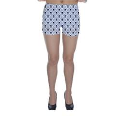 Skull Digital Paper Skinny Shorts by stockimagefolio1