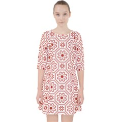 Flower Seamless Pattern Pocket Dress