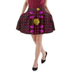 Roses In The Air For Happy Feelings A Line Pocket Skirt by pepitasart