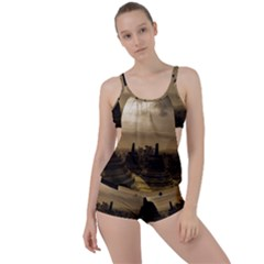 Borobudur Temple Indonesia Boyleg Tankini Set