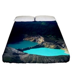 Kelimutu Crater Lakes  Indonesia Fitted Sheet (queen Size)