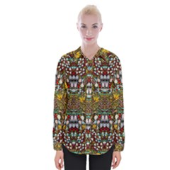 Fantasy Forest And Fantasy Plumeria In Peace Womens Long Sleeve Shirt