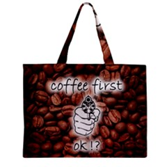 Coffee First, Ok Zipper Mini Tote Bag by stockimagefolio1