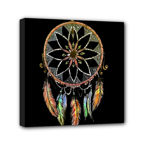 Dreamcatcher  Mini Canvas 6  X 6  by Valentinaart