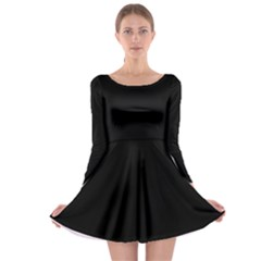 Black Long Sleeve Skater Dress by theunrulyartist