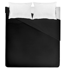 Black Duvet Cover Double Side (queen Size) by theunrulyartist