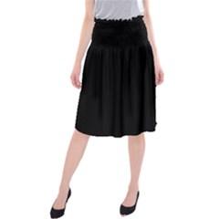 Black Midi Beach Skirt by theunrulyartist