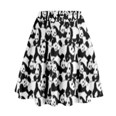 Panda Pattern High Waist Skirt by Valentinaart