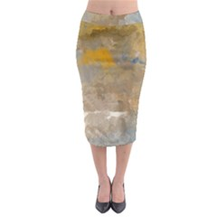 Sunset In The Mountains Midi Pencil Skirt by theunrulyartist