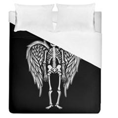 Angel Skeleton Duvet Cover (queen Size) by Valentinaart