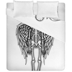 Angel Skeleton Duvet Cover Double Side (california King Size) by Valentinaart