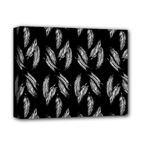 Feather Pattern Deluxe Canvas 14  X 11  by Valentinaart