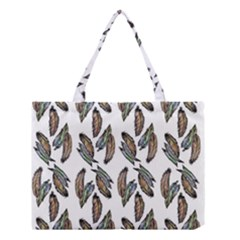 Feather Pattern Medium Tote Bag by Valentinaart