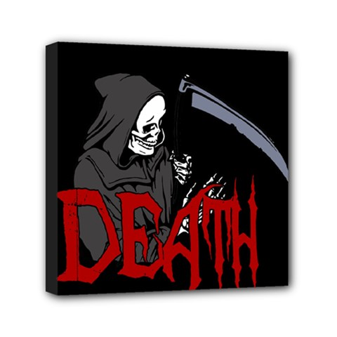 Death   Halloween Mini Canvas 6  X 6  by Valentinaart