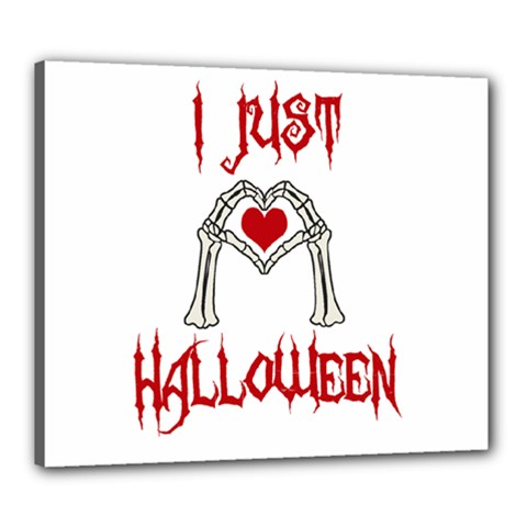 I Just Love Halloween Canvas 24  X 20  by Valentinaart