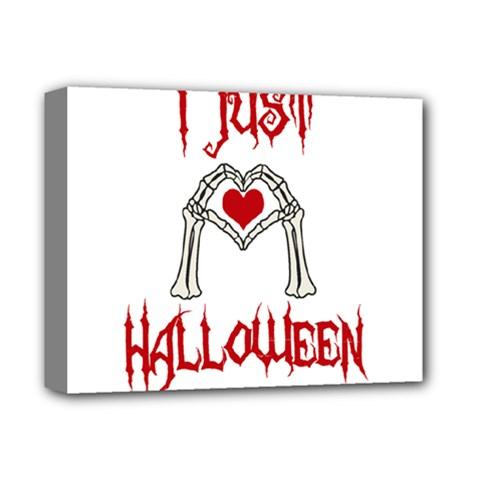I Just Love Halloween Deluxe Canvas 14  X 11  by Valentinaart