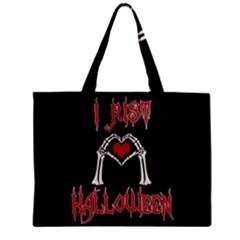 I Just Love Halloween Zipper Mini Tote Bag by Valentinaart
