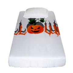 Halloween Fitted Sheet (single Size) by Valentinaart