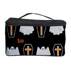 Ghost And Chest Halloween Pattern Cosmetic Storage Case by Valentinaart