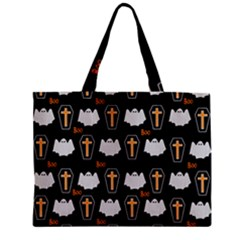 Ghost And Chest Halloween Pattern Zipper Mini Tote Bag by Valentinaart